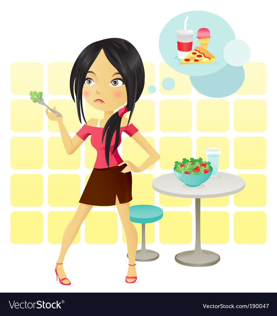 Diet girl vector | Price:  Credit (USD $)