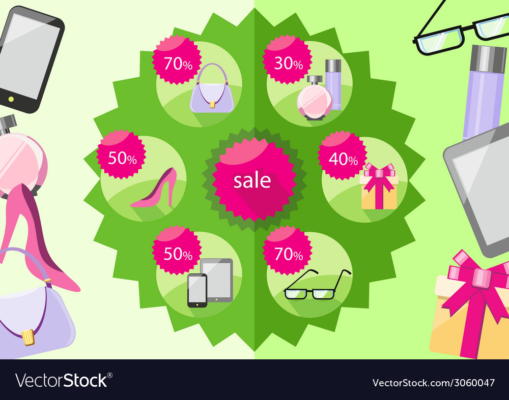 Fashion purchases sale discount vector | Price: 1 Credit (USD $1)