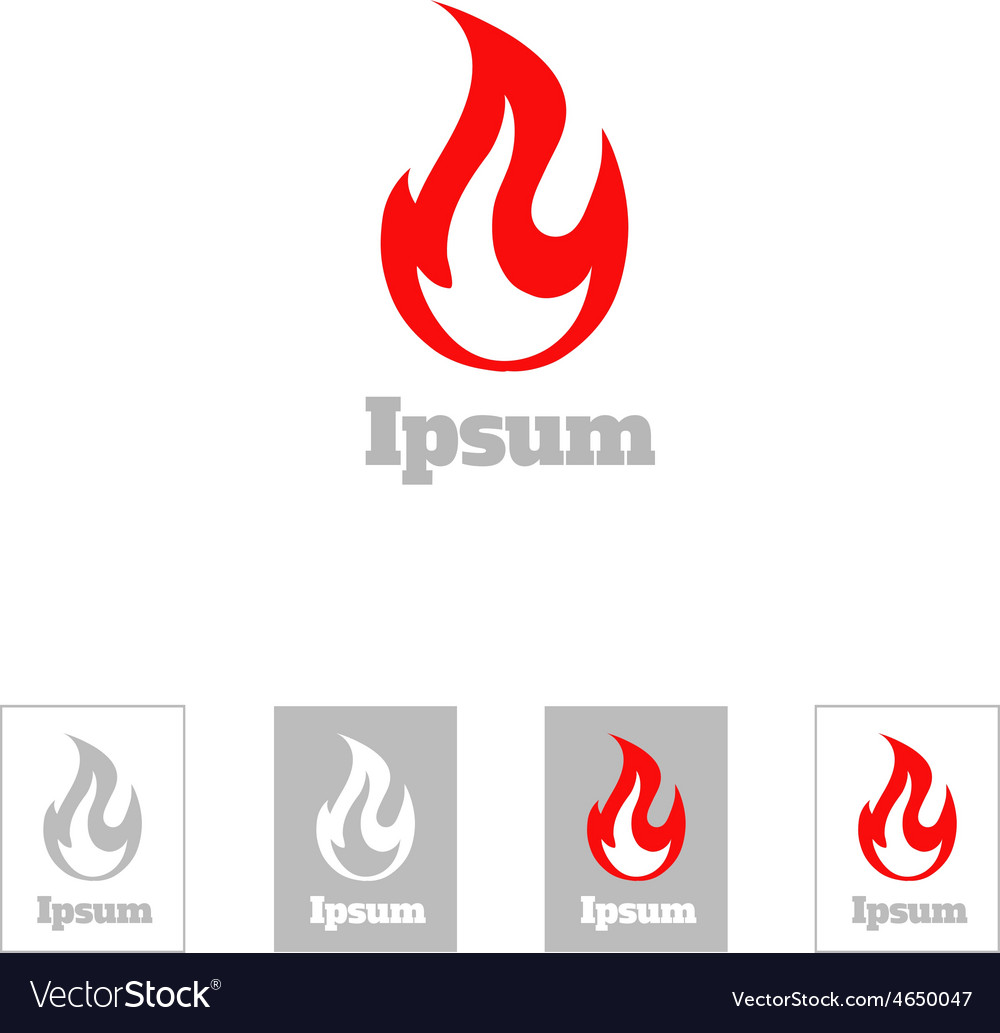 Fire flame logo design template corporate vector | Price: 1 Credit (USD $1)