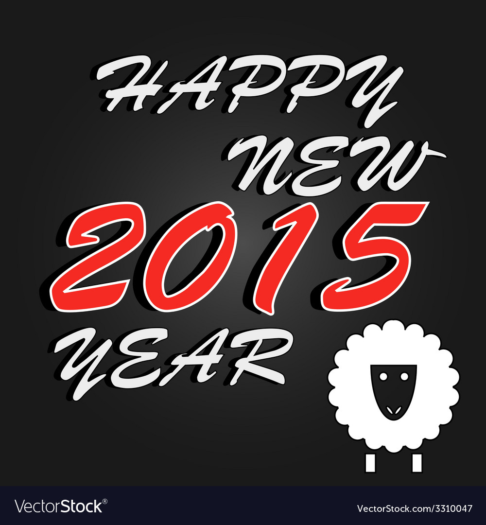 Happy new year 2015 celebration background vector | Price: 1 Credit (USD $1)