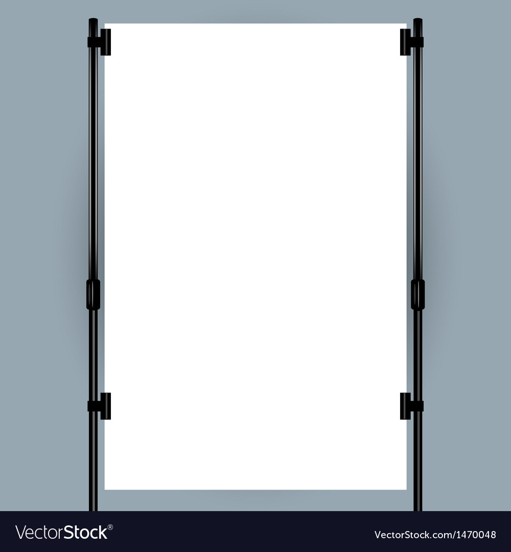 Blank banner display vector | Price: 1 Credit (USD $1)