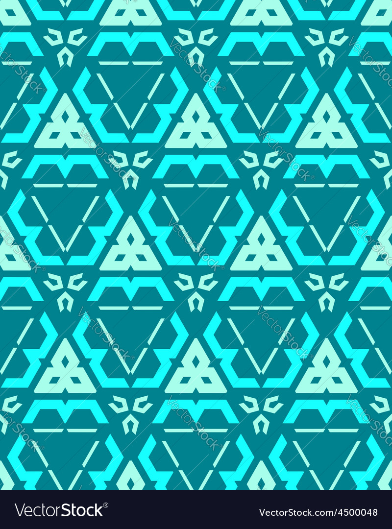 Blue green cyan color abstract geometric seamless vector | Price: 1 Credit (USD $1)