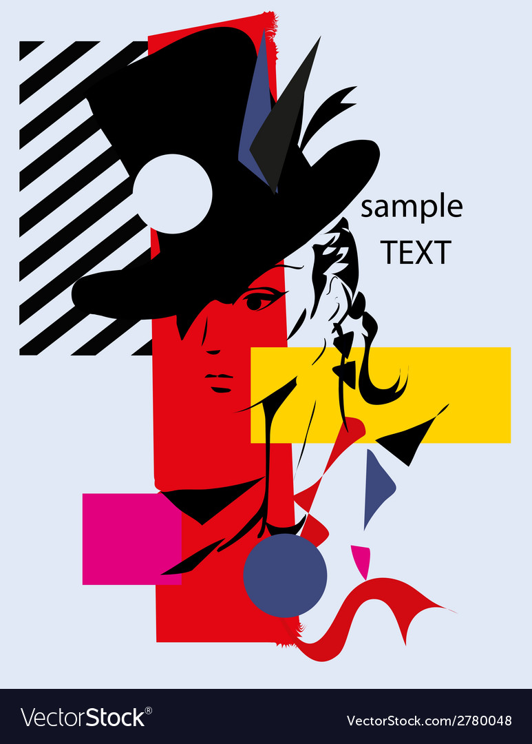 Fashion woman cubism vector | Price: 1 Credit (USD $1)