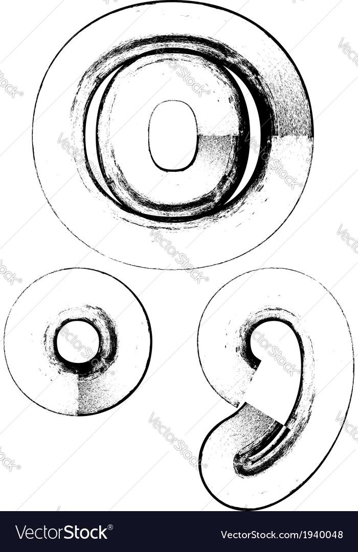 Grunge font symbol vector | Price: 1 Credit (USD $1)