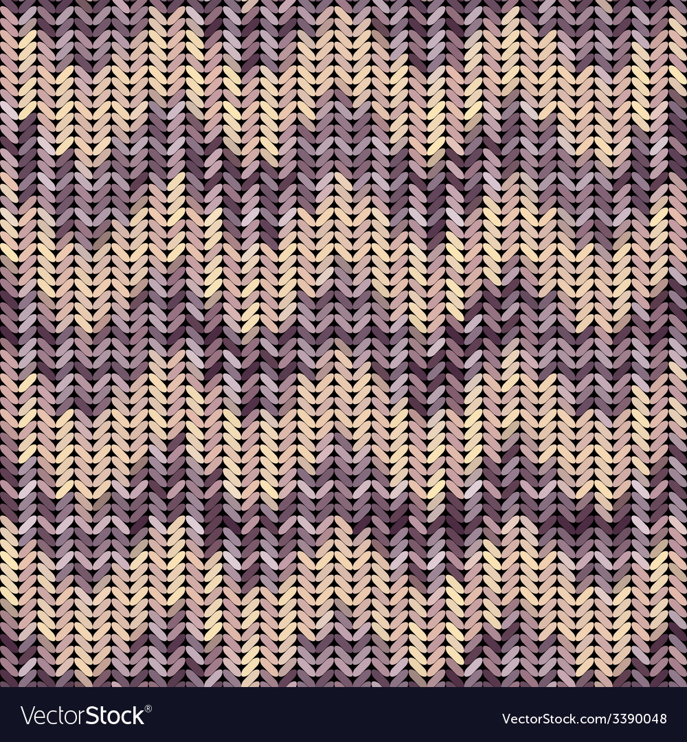 Knitted texture patterned chevron vector | Price: 1 Credit (USD $1)