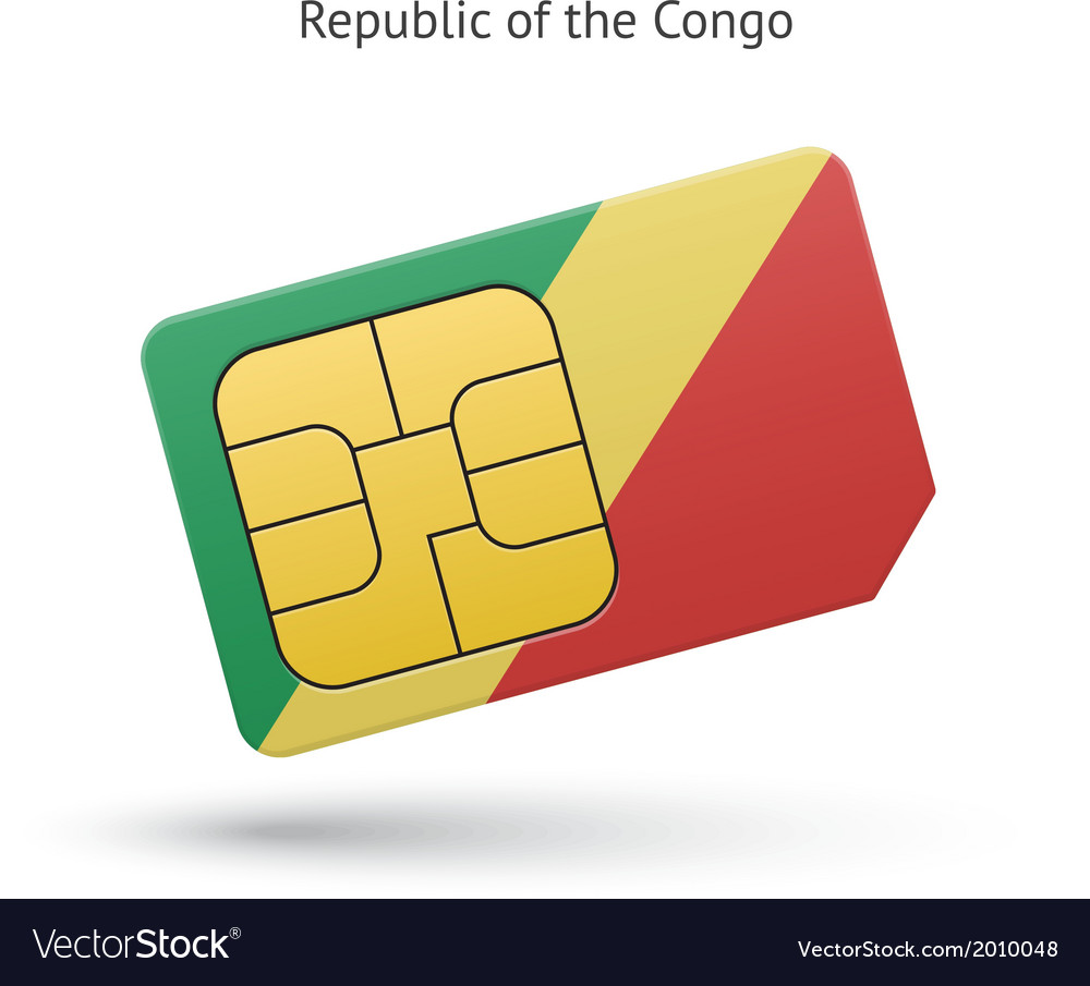Republic of the congo mobile phone sim card with vector | Price: 1 Credit (USD $1)