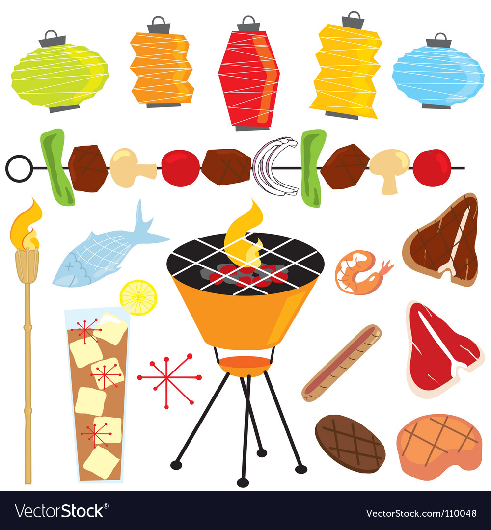 Retro barbeque party vector | Price: 3 Credit (USD $3)