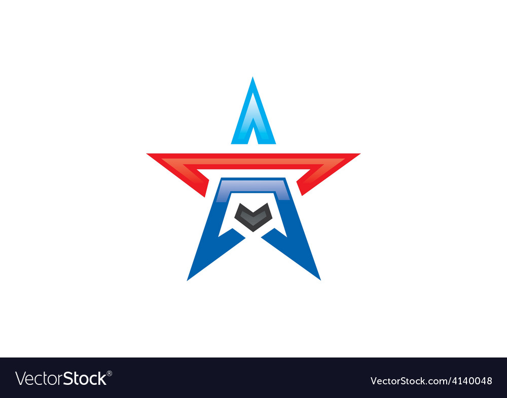 Star shape pride logo vector | Price: 1 Credit (USD $1)