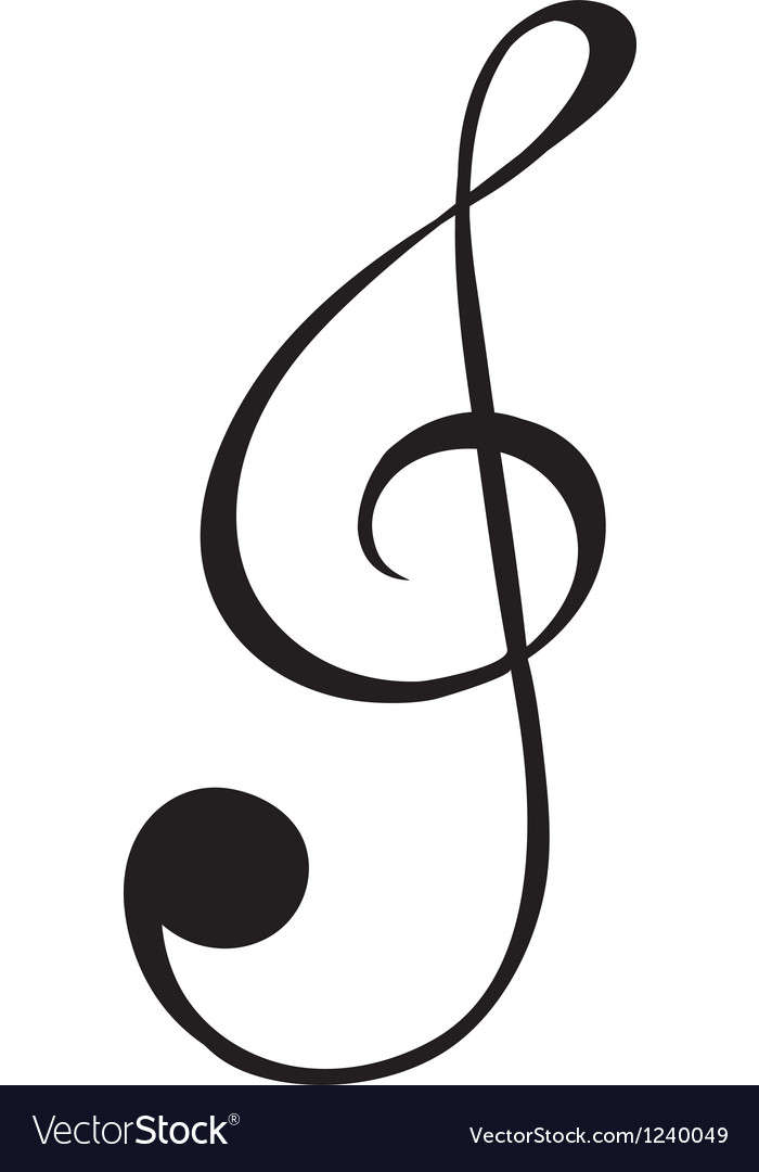 A g-clef sign vector | Price: 1 Credit (USD $1)