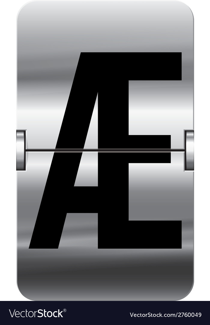 Alphabet silver flipboard letters ae vector | Price: 1 Credit (USD $1)