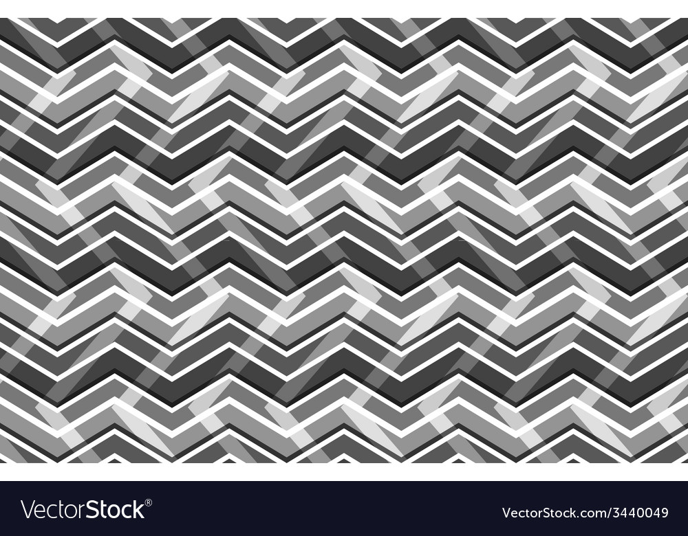 Black and white zig zag seamless pattern vector | Price: 1 Credit (USD $1)