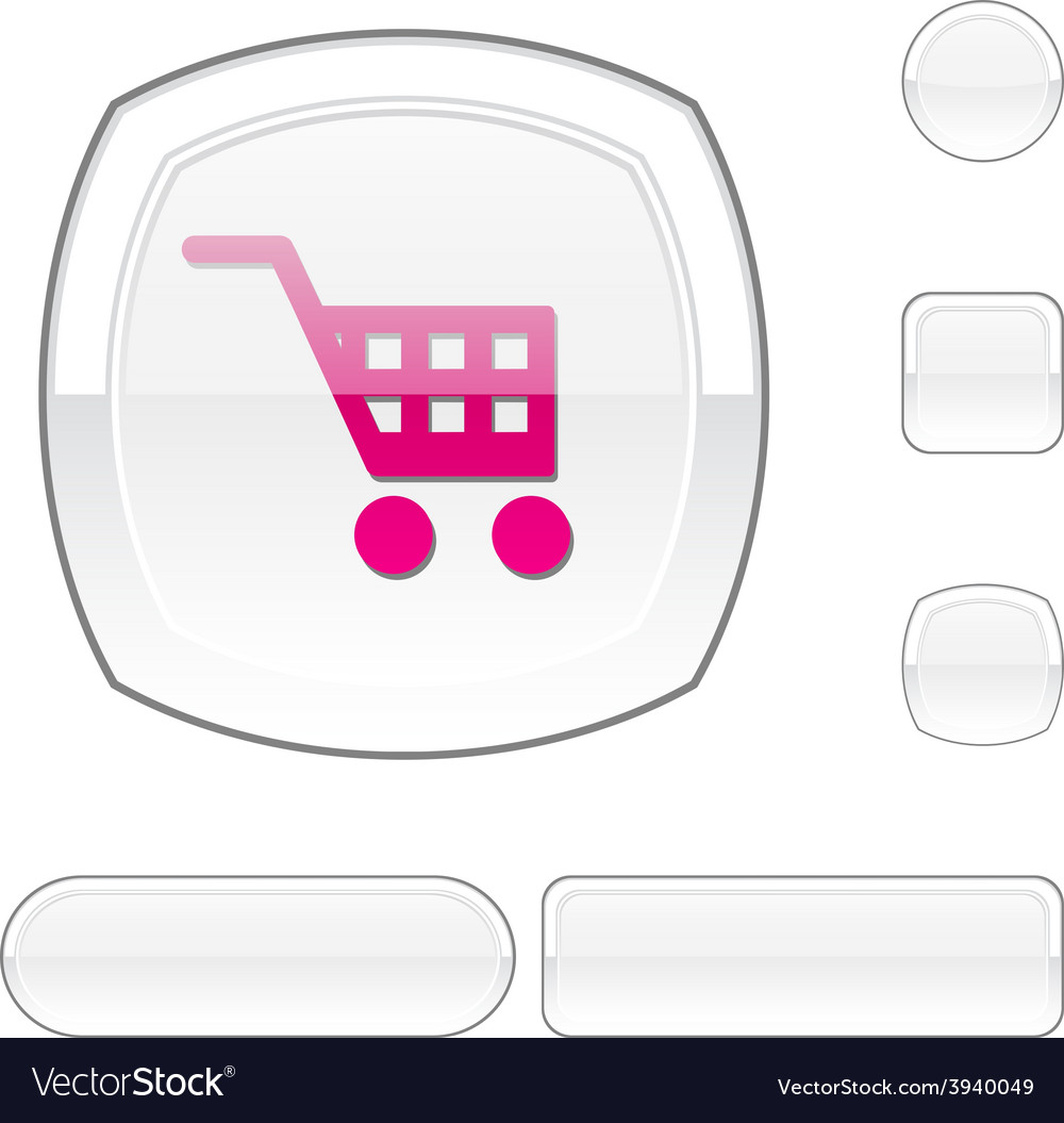 Buy white button vector | Price: 1 Credit (USD $1)