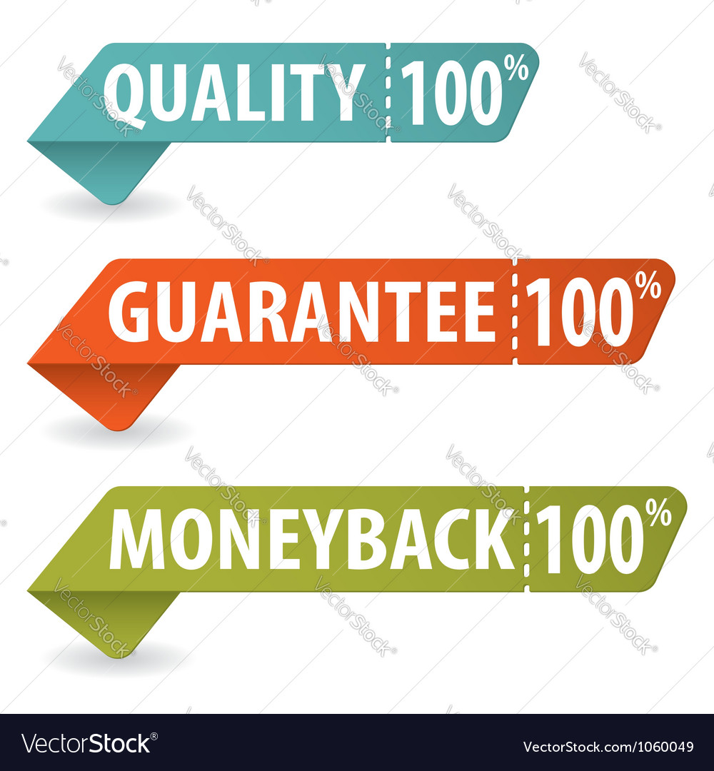 Collect quality signs vector | Price: 1 Credit (USD $1)