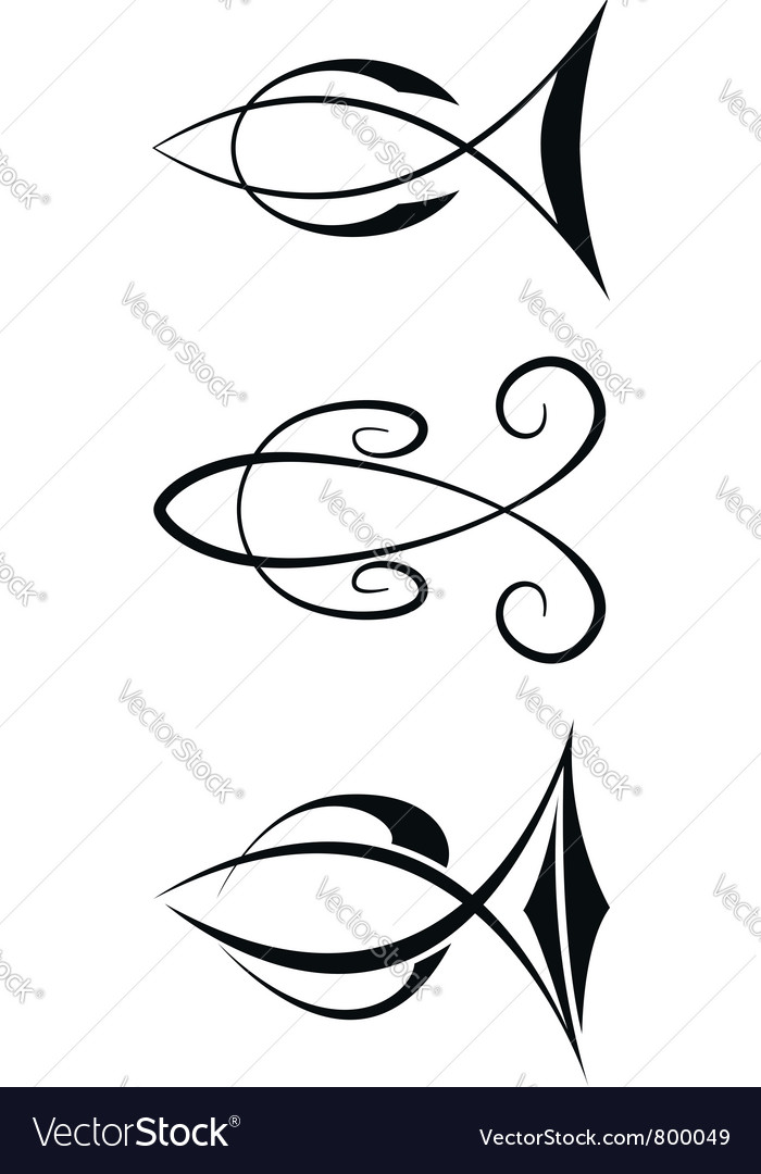 Fish symbols vector | Price: 1 Credit (USD $1)