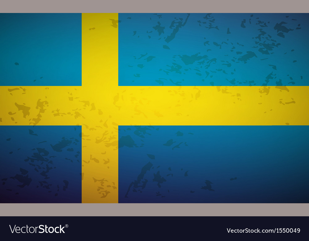 Flag sweden vector | Price: 1 Credit (USD $1)