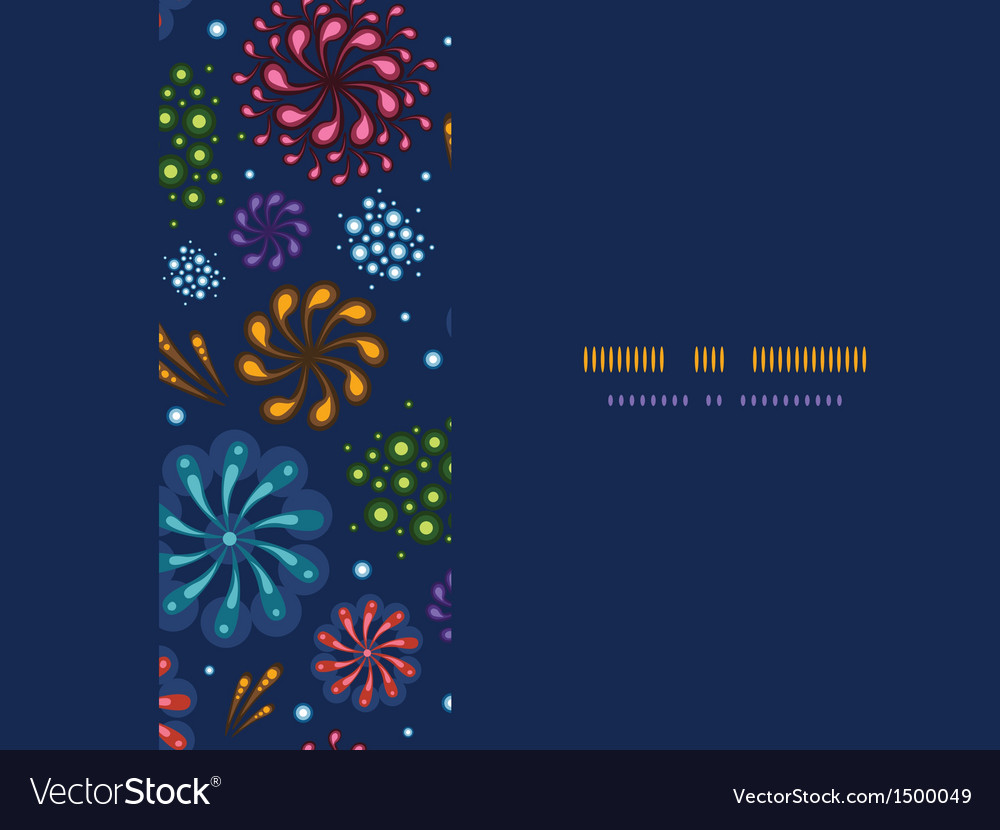 Holiday fireworks frame horizontal seamless vector | Price: 1 Credit (USD $1)