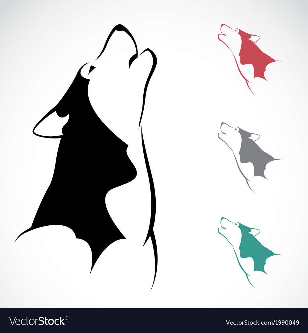 Image of an wolf vector | Price: 1 Credit (USD $1)