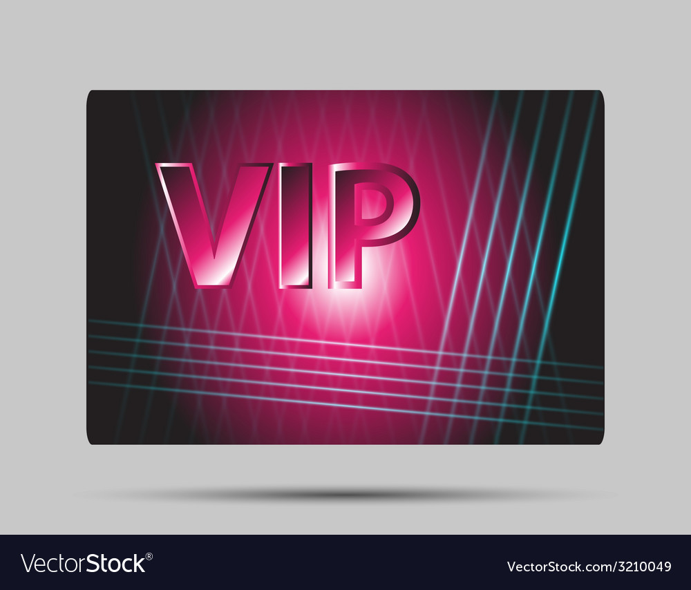 Pink vip card vector | Price: 1 Credit (USD $1)