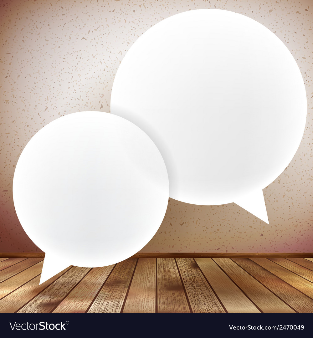 Speech bubble on wooden background plus eps10 vector | Price: 1 Credit (USD $1)