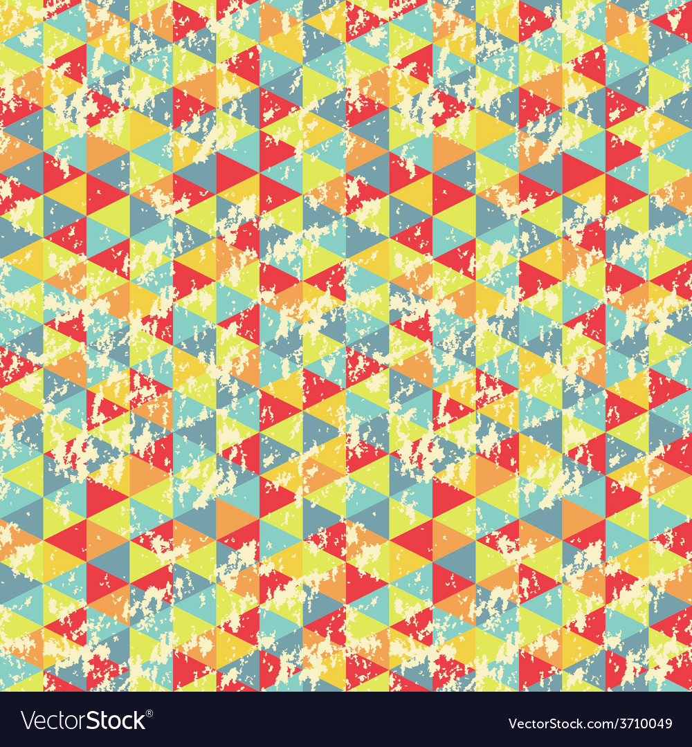 Vintage geometric triangles pattern vector | Price: 1 Credit (USD $1)