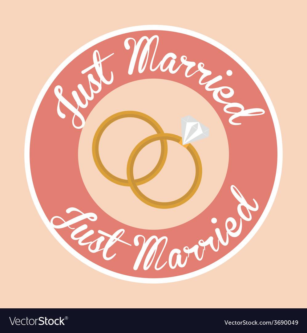 Wedding design over pinkbackground vector | Price: 1 Credit (USD $1)