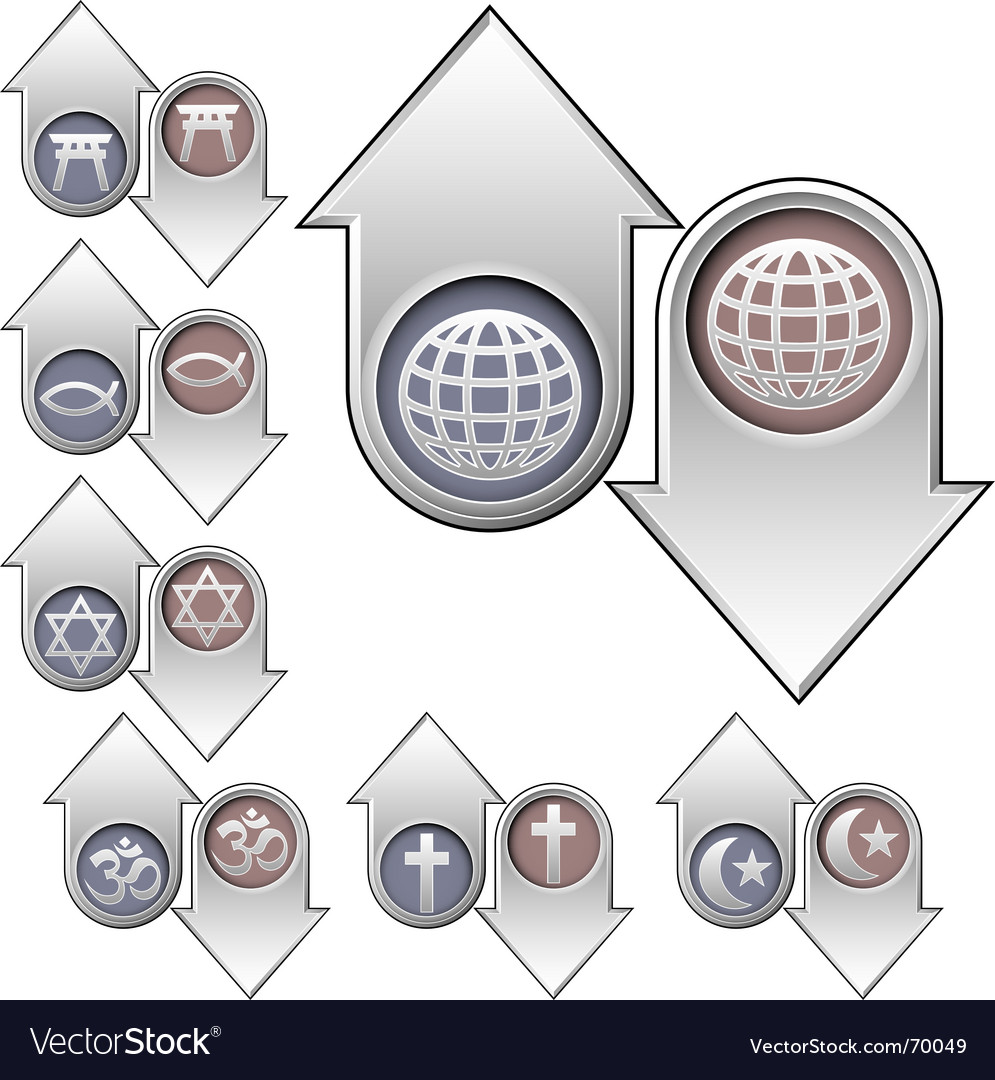 World religion popularity icons vector | Price: 1 Credit (USD $1)