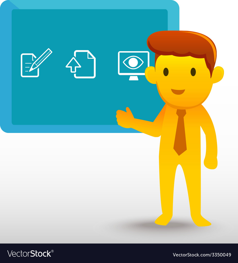 Yellow man presentation vector | Price: 1 Credit (USD $1)