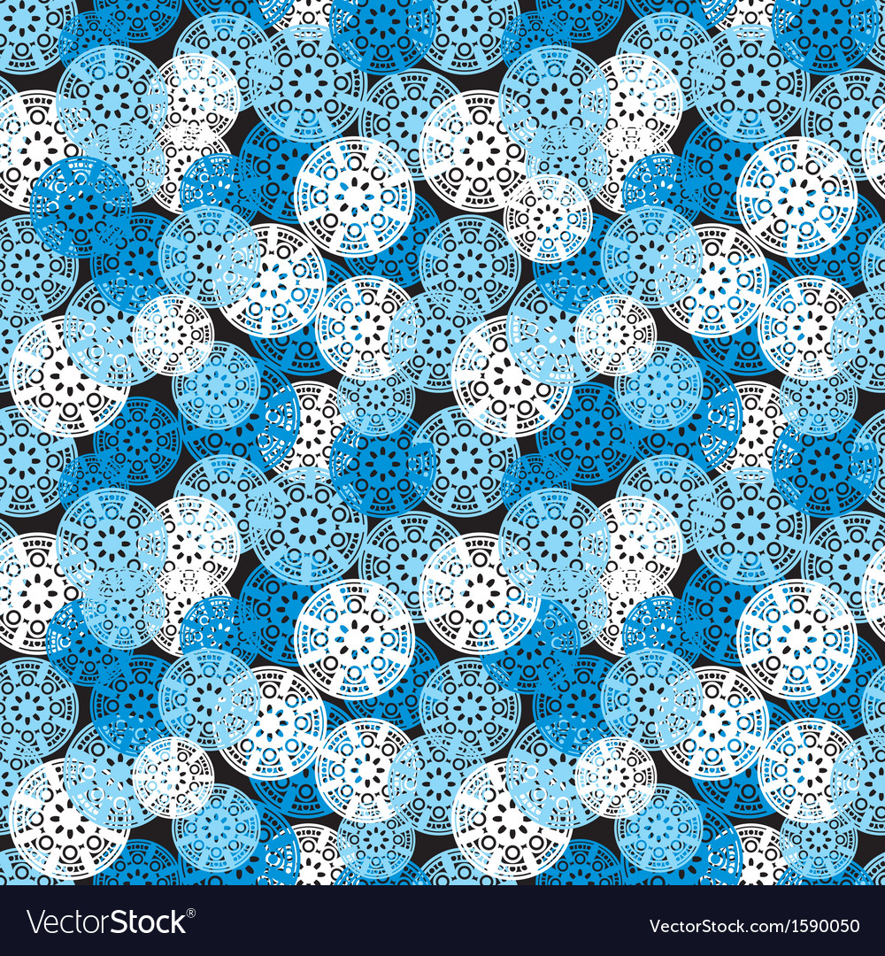 Blue geometric seamless pattern vector | Price: 1 Credit (USD $1)