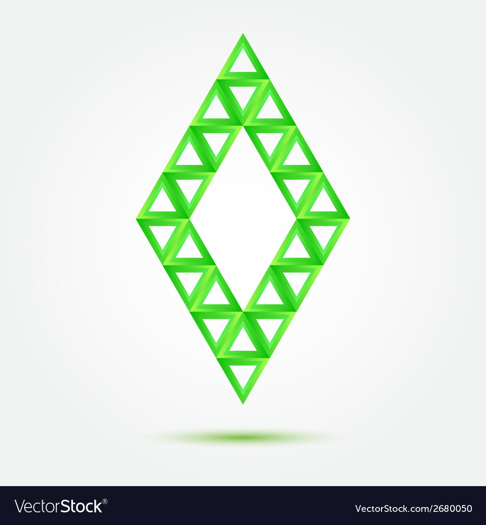 Bright green symbol made of triangles - abstract vector | Price: 1 Credit (USD $1)