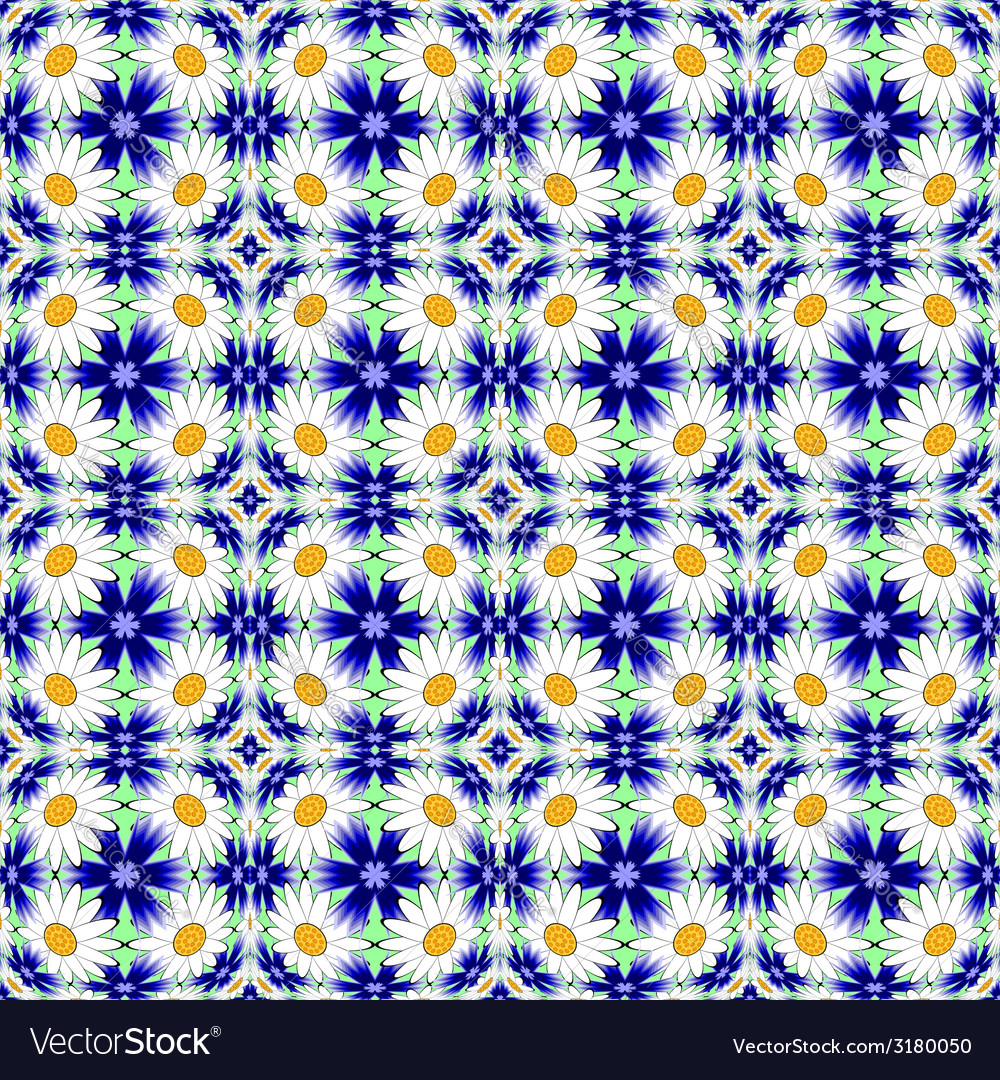 Design seamless colorful flower decorative pattern vector | Price: 1 Credit (USD $1)
