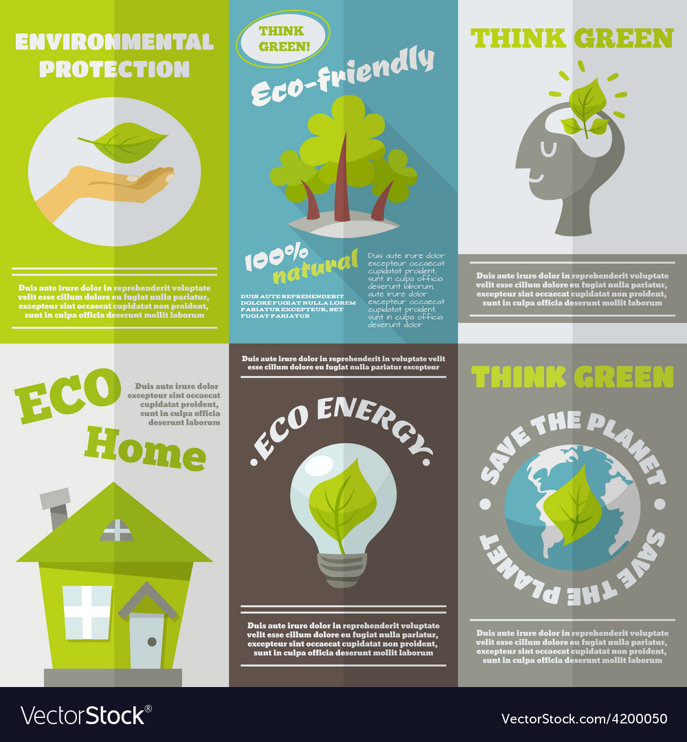 Eco energy poster vector | Price: 1 Credit (USD $1)