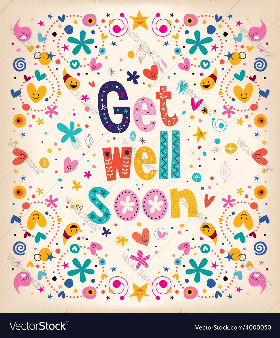 Get well soon card 2 vector | Price: 1 Credit (USD $1)