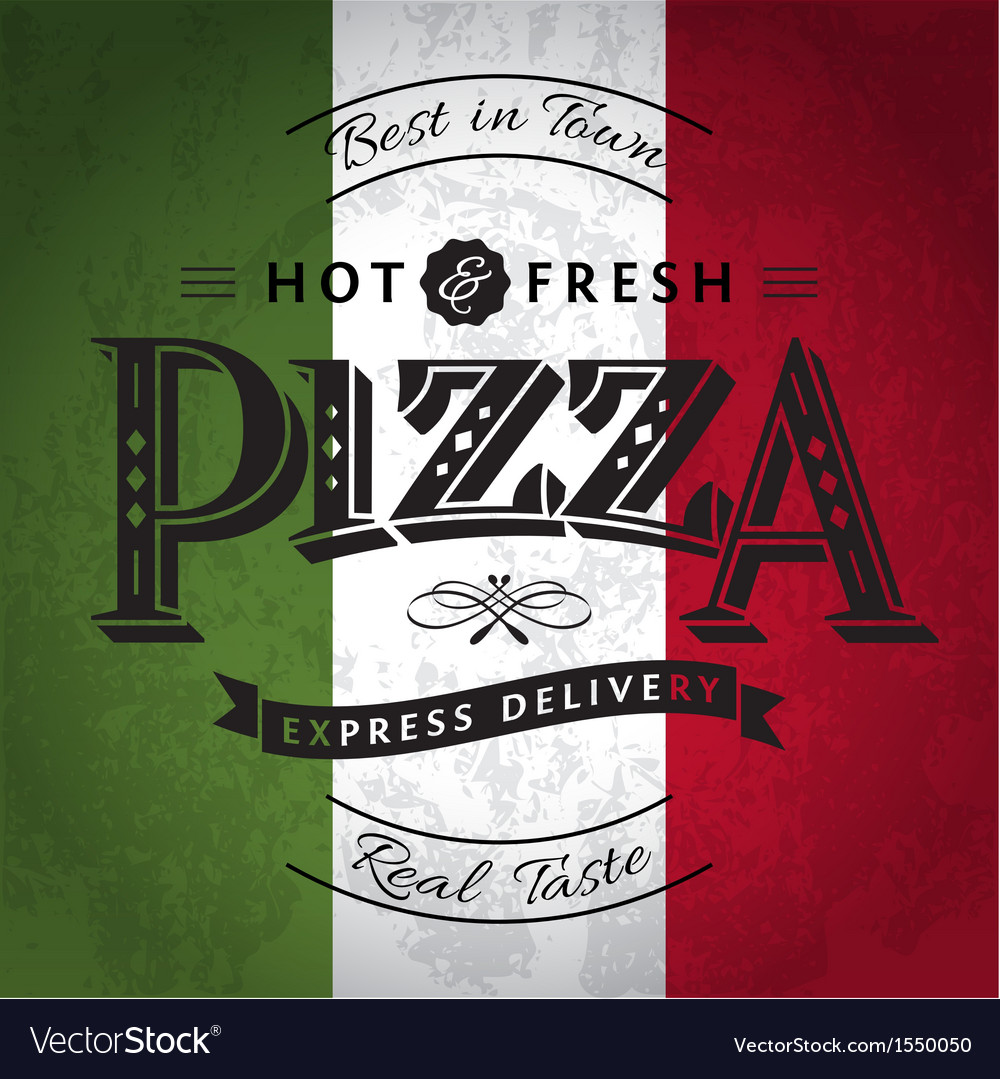 Pizza poster vector | Price: 1 Credit (USD $1)