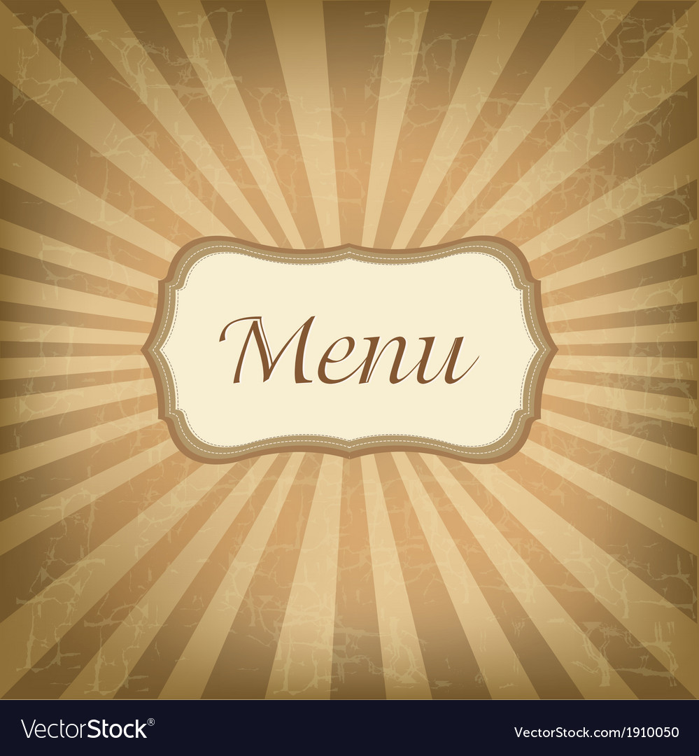 Retro label with menu vector | Price: 1 Credit (USD $1)