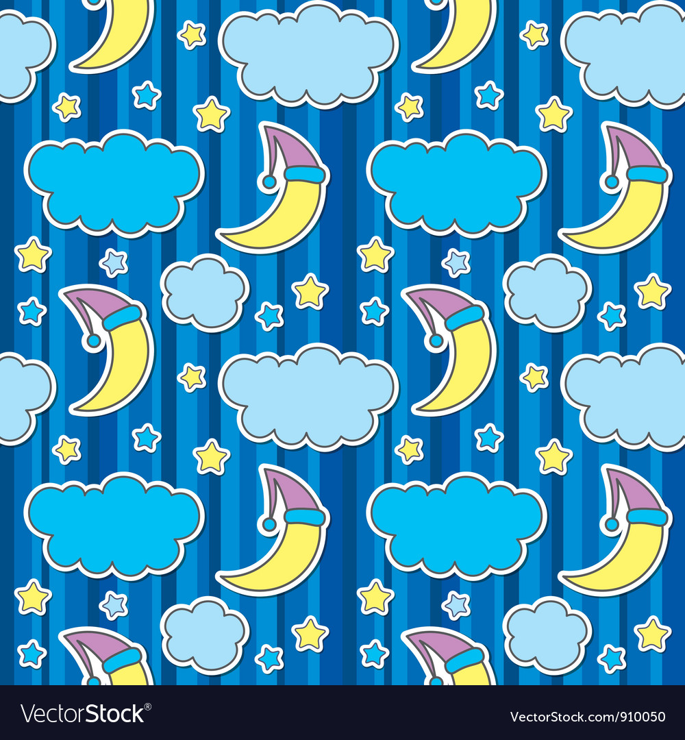 Seamless pattern with night sky vector   Price: 1 Credit (USD $1)