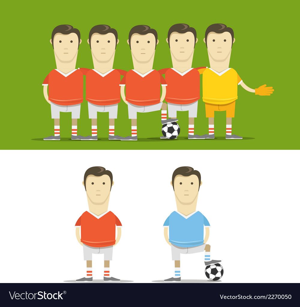 Soccer team clip-art vector | Price: 1 Credit (USD $1)