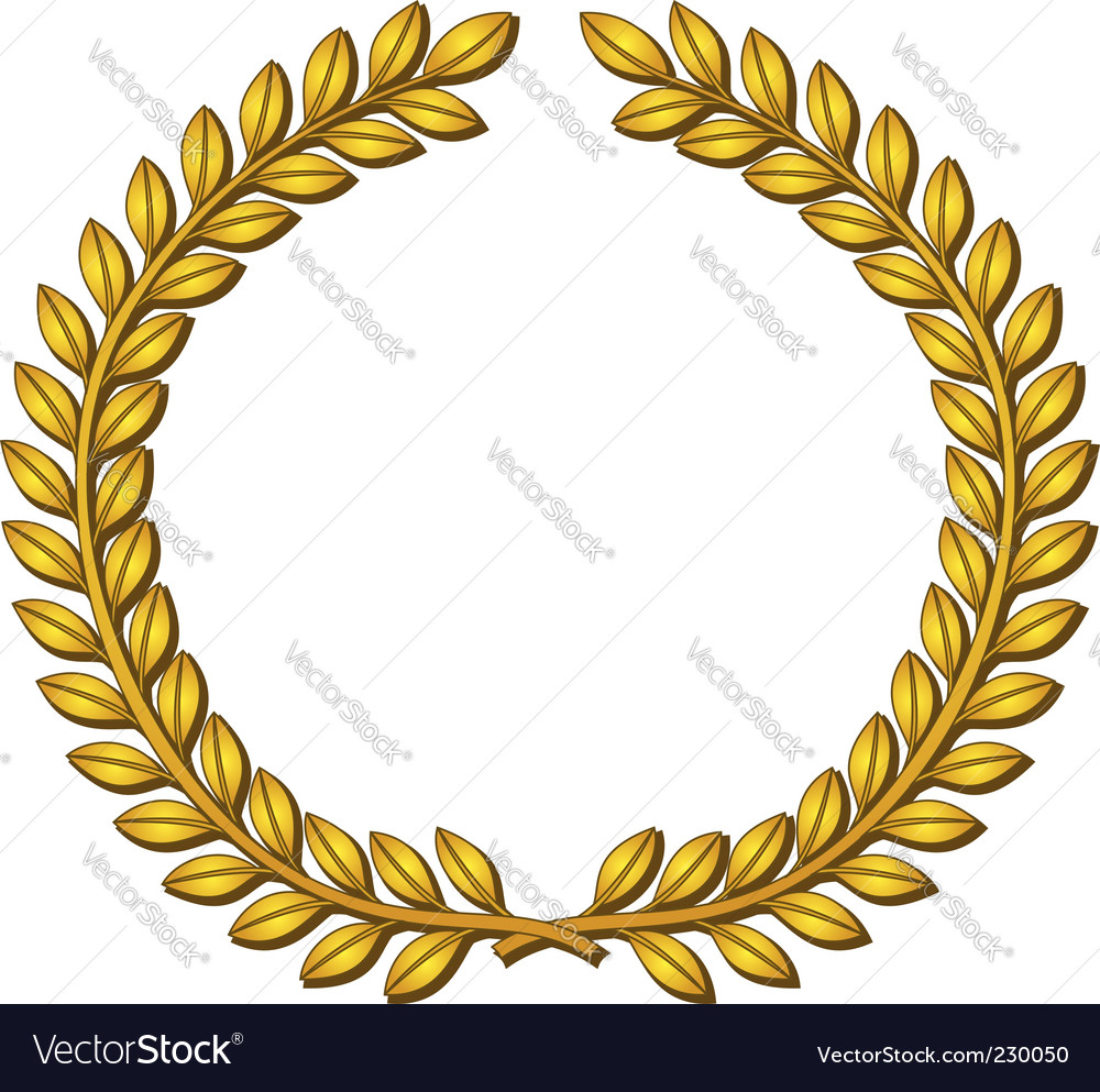 Wreath of laurels vector | Price: 1 Credit (USD $1)