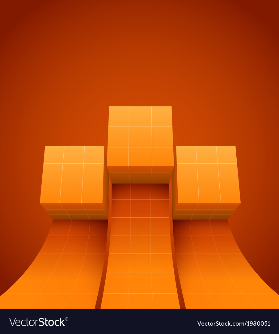 Abstract cubes moving up vector | Price: 1 Credit (USD $1)