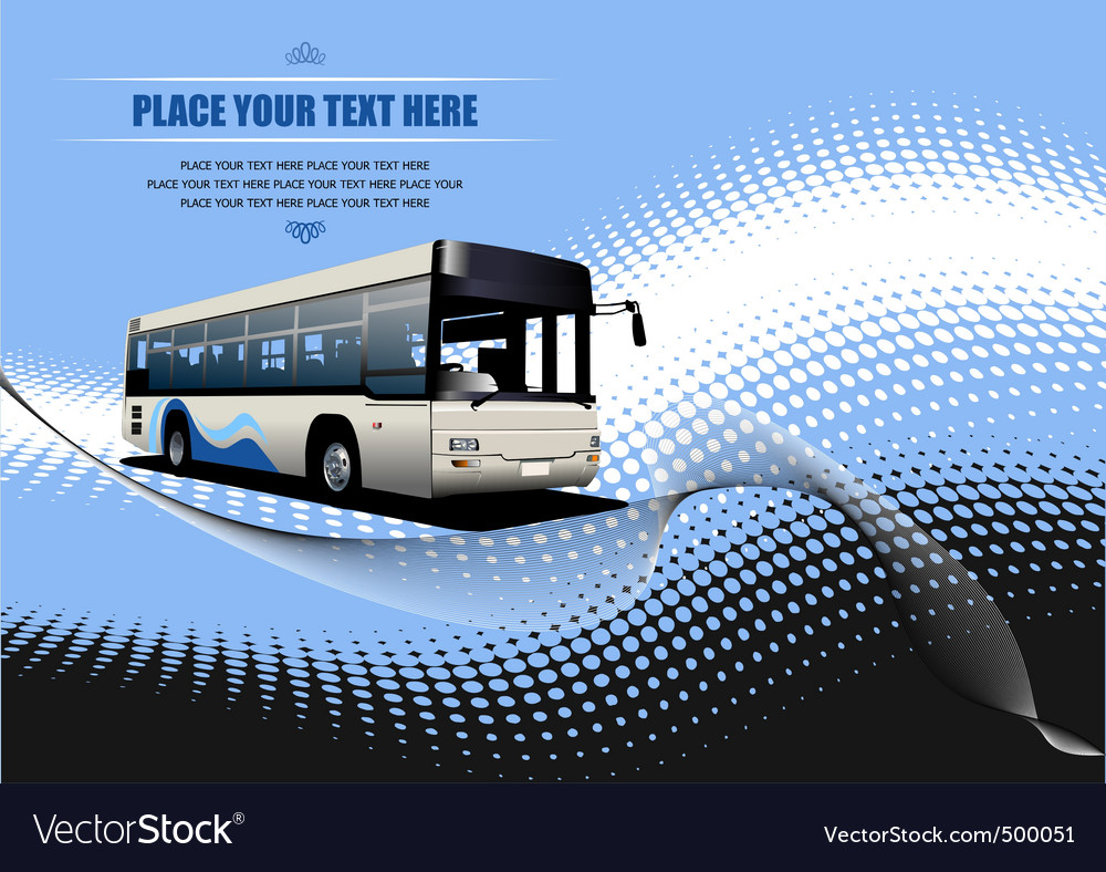 Bus background vector | Price: 1 Credit (USD $1)