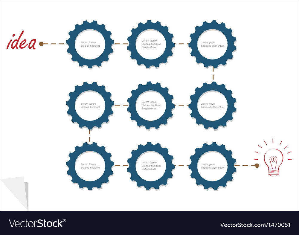 Concept template with gear wheels vector | Price: 1 Credit (USD $1)