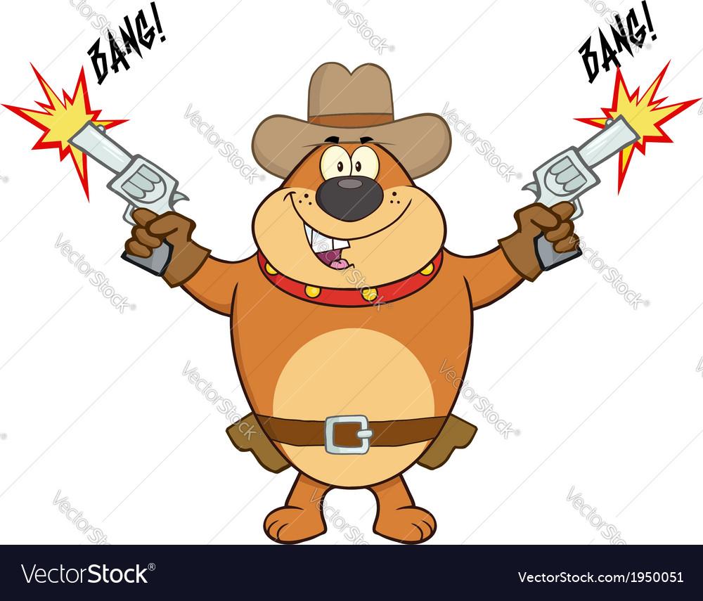 Cowboy dog cartoon vector   Price: 1 Credit (USD $1)