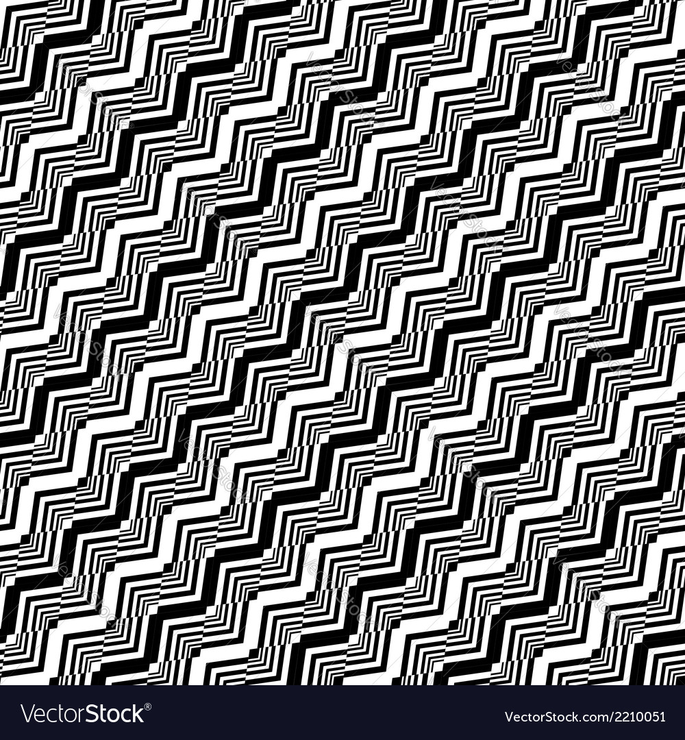 Design seamless monochrome zigzag pattern vector | Price: 1 Credit (USD $1)