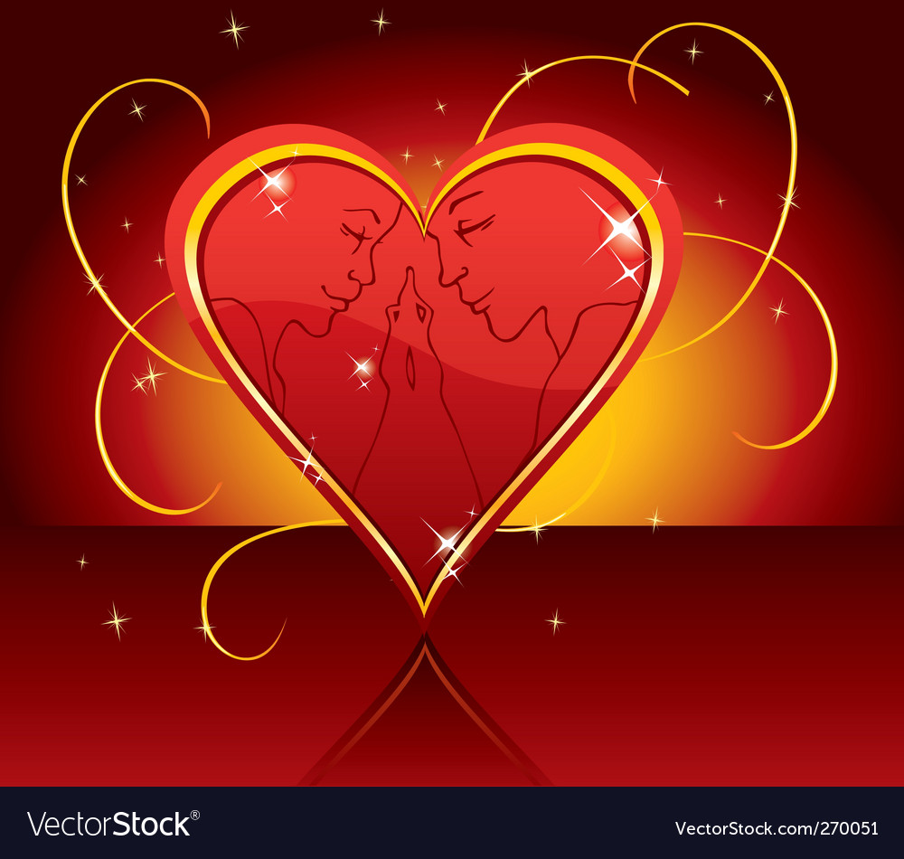 Love in heart vector | Price: 1 Credit (USD $1)