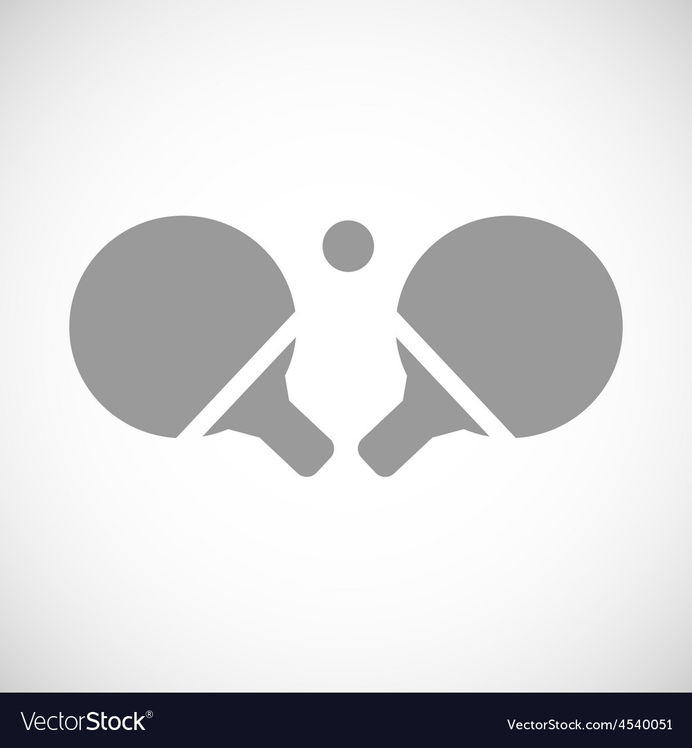 Table tennis black icon vector | Price: 1 Credit (USD $1)