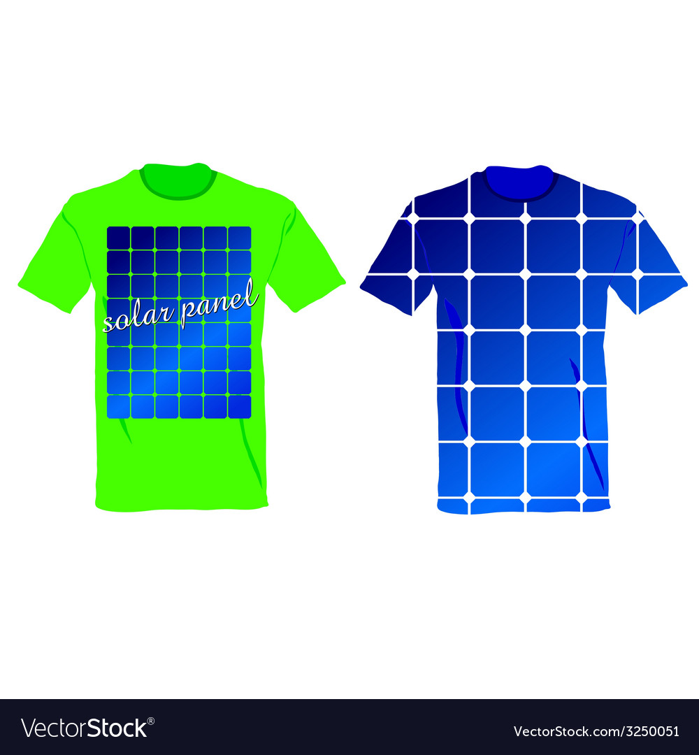 T-shirt with an of solar panels vector | Price: 1 Credit (USD $1)