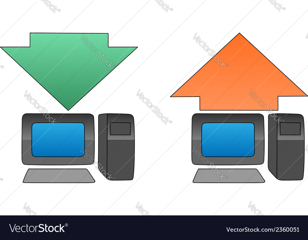 Uploading downloading vector | Price: 1 Credit (USD $1)