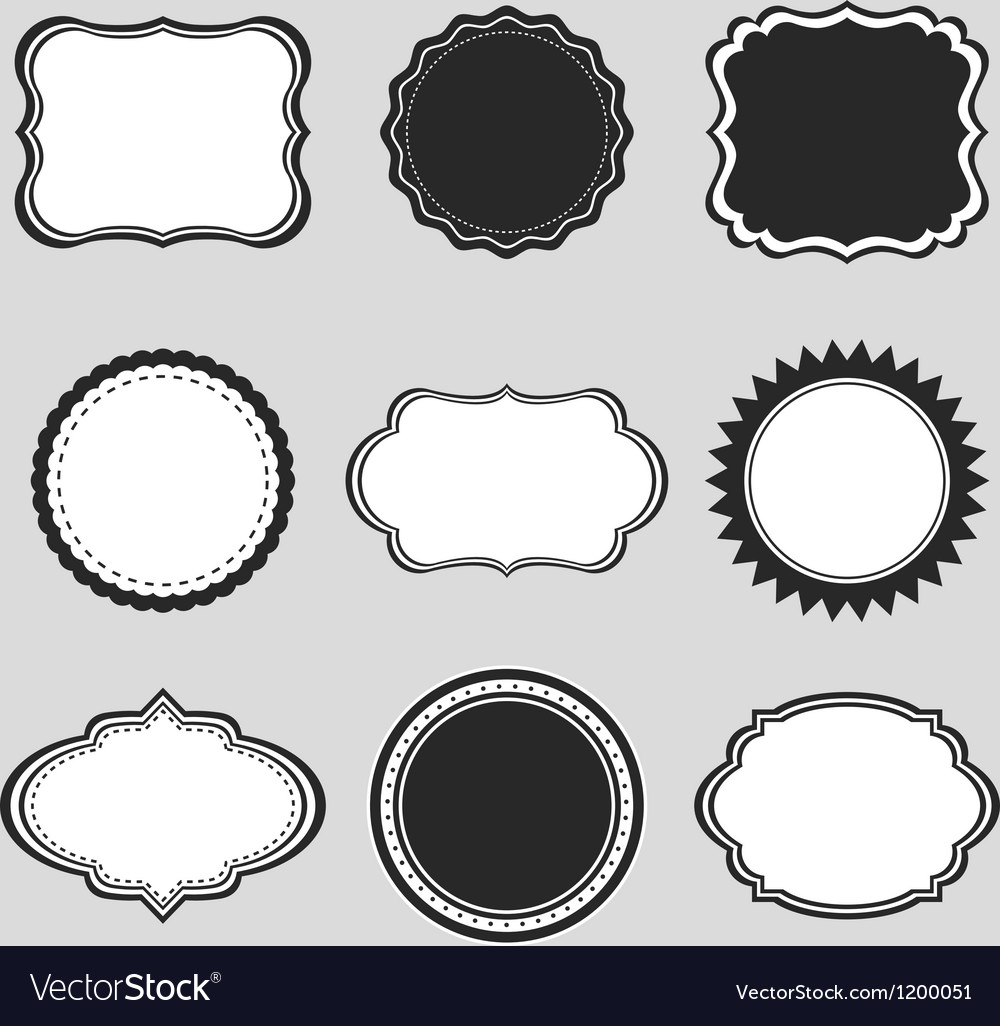 Vintage labels borders frames vector