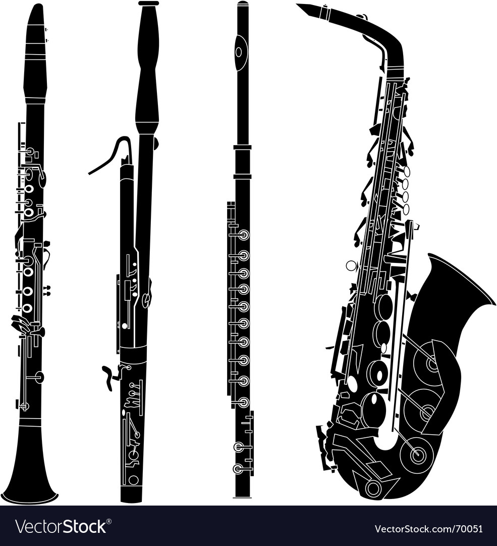 Woodwind musical instruments vector | Price: 1 Credit (USD $1)