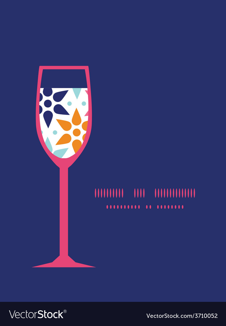 Abstract colorful stars wine glass vector | Price: 1 Credit (USD $1)