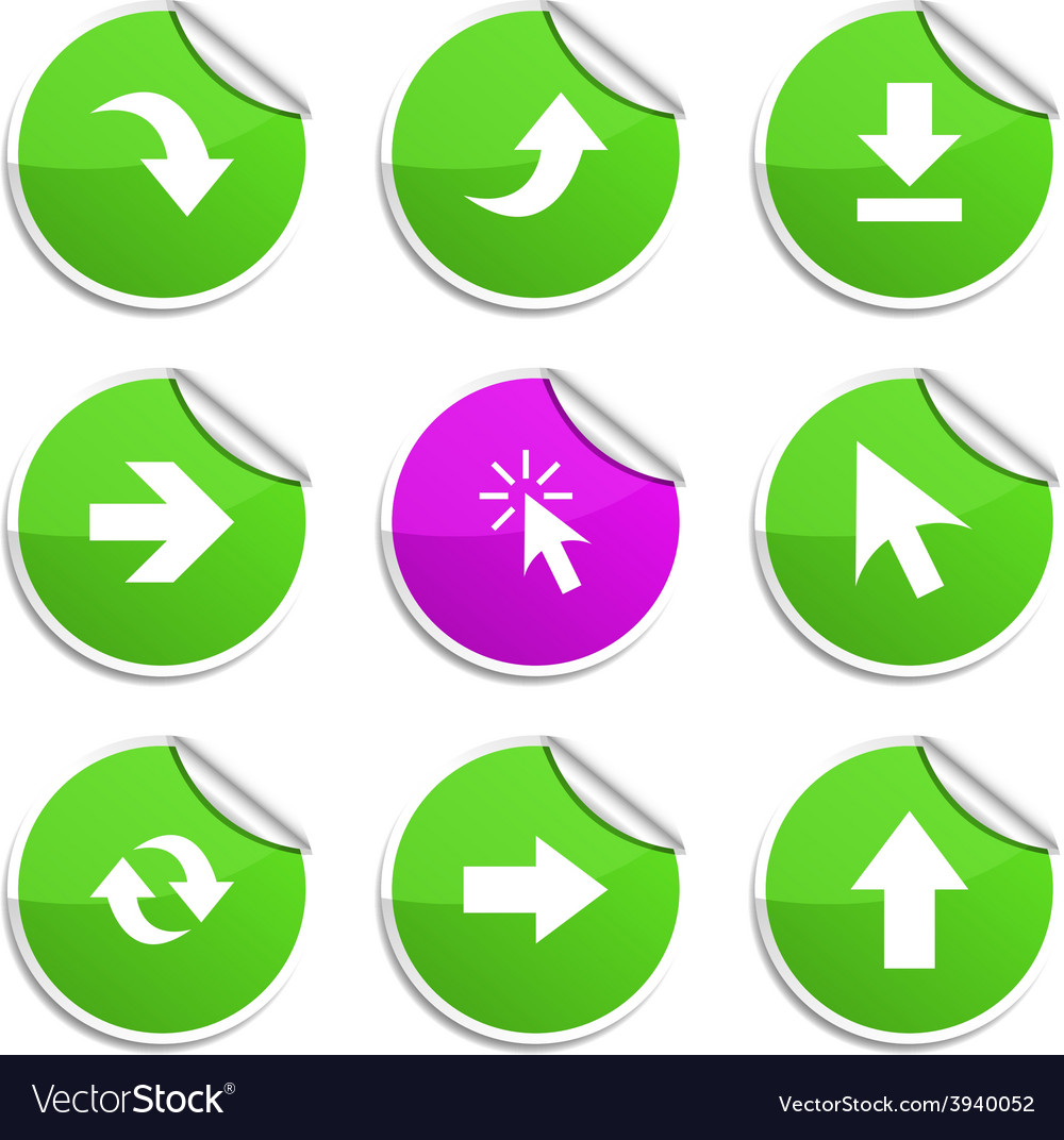 Arrows stickers vector | Price: 1 Credit (USD $1)